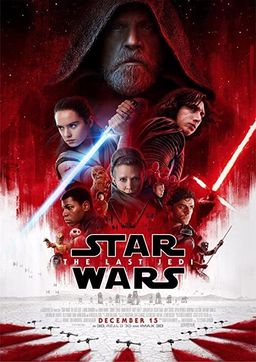 STAR WARS EPISODE 8: THE LAST JEDI – US Wall Movie Poster Print - 30cm x  43cm / 12 Inches x 17 Inches VIII: Amazon.co.uk: Kitchen & Home