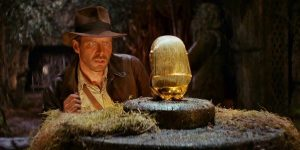 A still from the film Raiders of the Lost Ark.